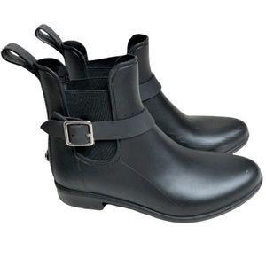 Sugar Black Rain Booties Size 6 Round Toe Size 6